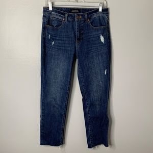 Talbots Raw Hem Slim Straight Jeans